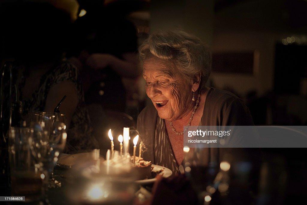 Elderly Lady:  Birthday Celebration