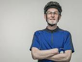 Elderly male cyclist