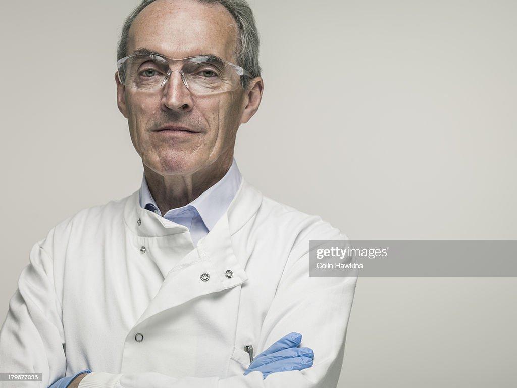 Elderly male health worker