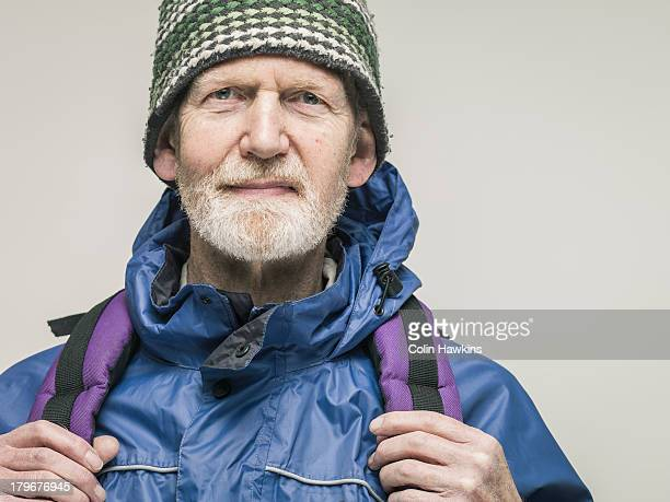 Elderly male hiker