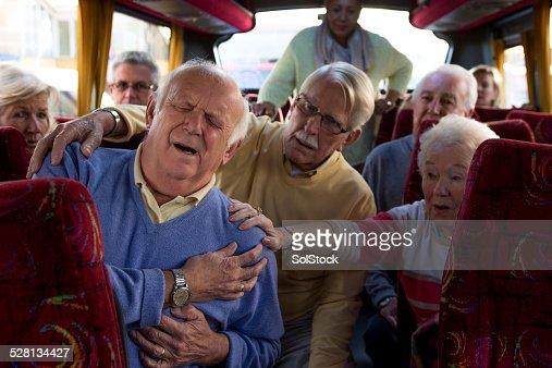 Elderly Man Having a Heart Attack