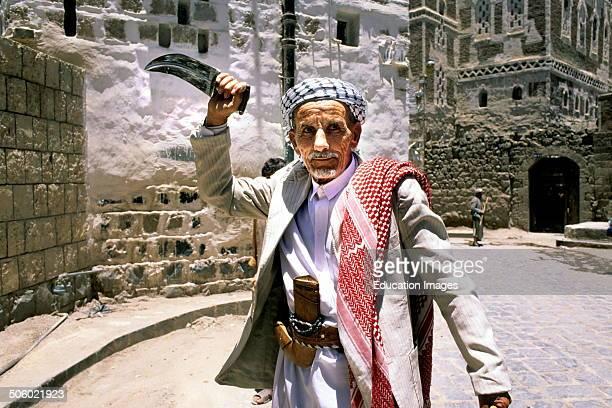 Elderly Man With Jambiya San'a Yemen Arabian Peninsula