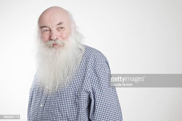Elderly Man with Long Beard
