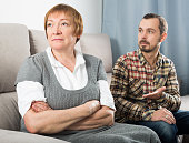 Mature mother and son quarrel with each other and find out relationship