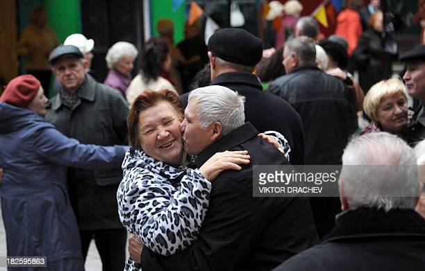 Elderly people dance in a park in central Minsk on October 1 2013 Belarus marked today the International Day of Older Persons AFP PHOTO / VIKTOR...