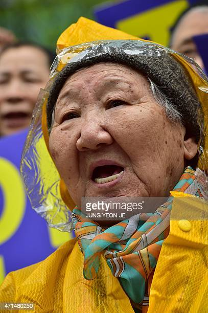 Elderly South Korean woman Gil WonOk who was forced to serve as a sex slave for Japanese troops during World War II demands a sincere apology from...