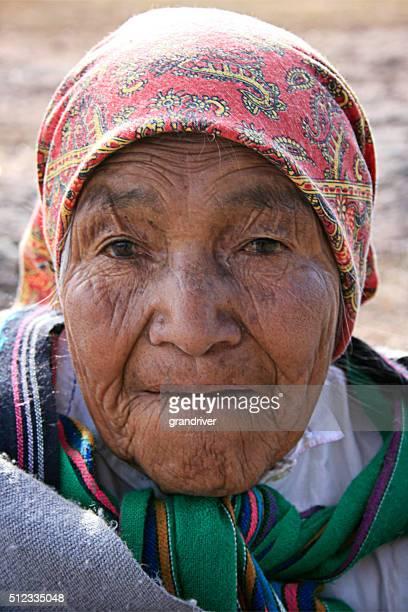 Ältere Tarahumara Stamm Frau in Mexiko