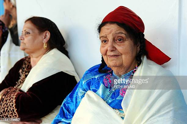 A elderly Tunisian women attend the Jewish pilgrimage at the Ghriba synagogue in Djerba on May 9 2012 AFP PHOTO/ FETHI BELAID