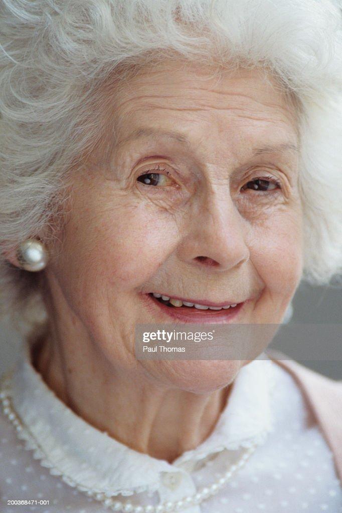 Elderly Woman Closeup Portrait Stock Photo | Getty Images
