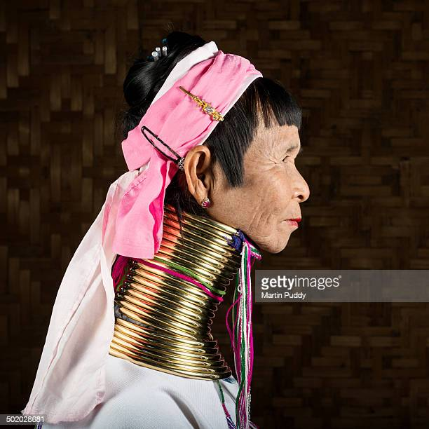 Elderly woman from Padaung hill tribe