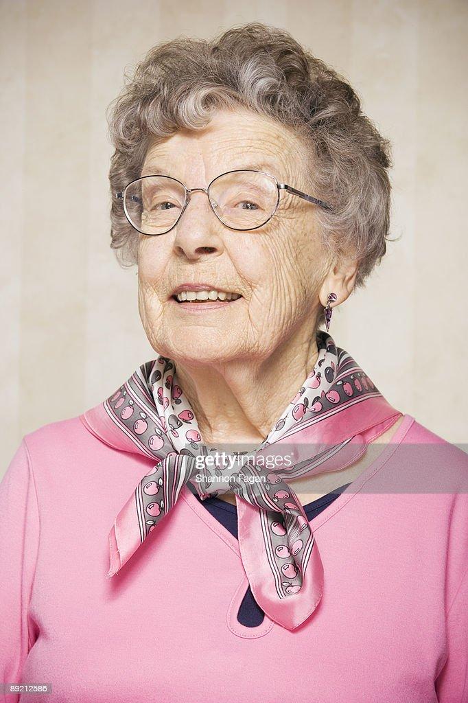 Elderly Woman in Retirement Home : Stock Photo
