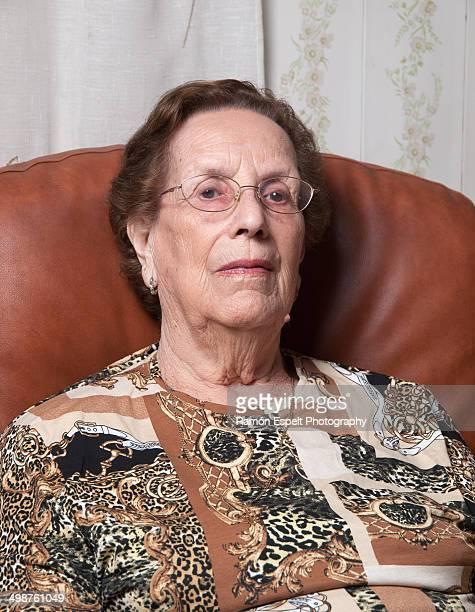 Elderly woman portrait at home