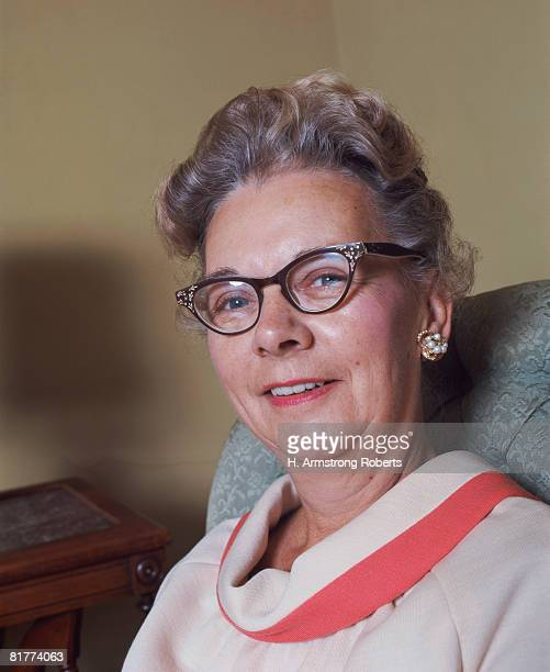 Elderly woman wearing spectacles, smiling, portrait. (Photo by H. Armstrong Roberts/Retrofile/Getty Images)