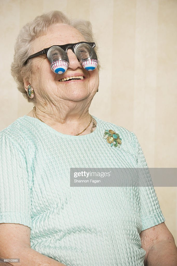 Elderly Woman With Silly Glasses