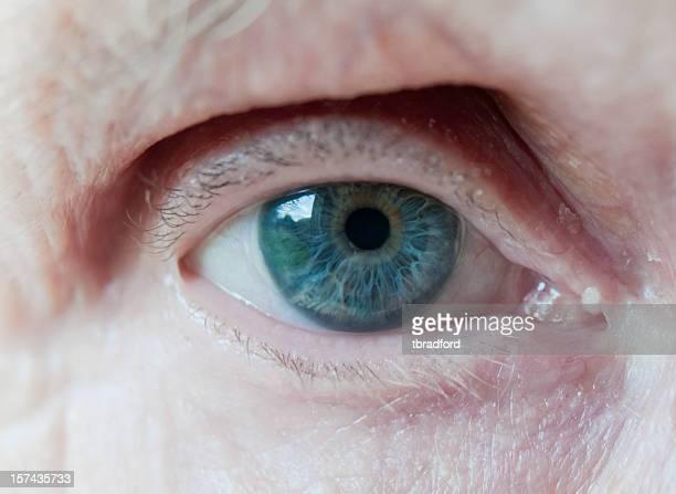 Âgées de femme Bleu yeux