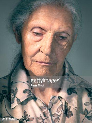 Elderly Womans Portrait Stock Photo | Getty Images