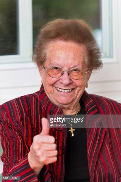 elderly womansuccessfull and optimistic