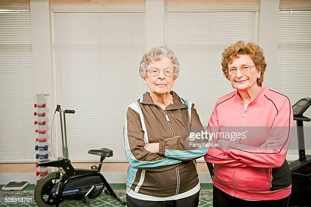 Elderly Women at Gym in Nursing Home