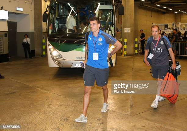Eldin Jakupovic of Leicester City arrives at Hong Kong Stadium ahead of the Premier League Asia Trophy on July 19th 2017 in So Kon Po Hong Kong
