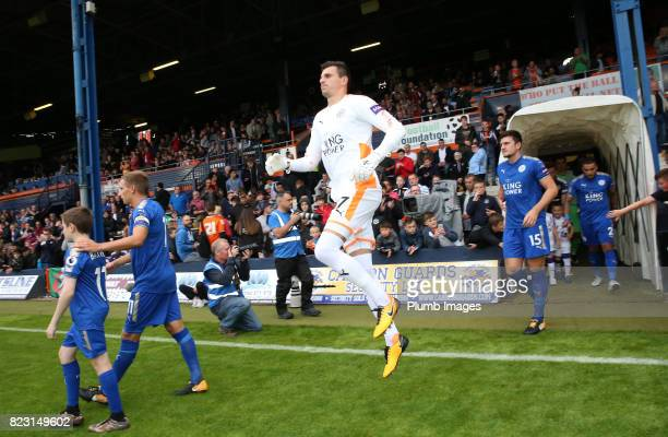 Eldin Jakupovic of Leicester City at Kenilworth Road ahead of the pre season friendly between Luton Town and Leicester City on July 26th 2017 in...