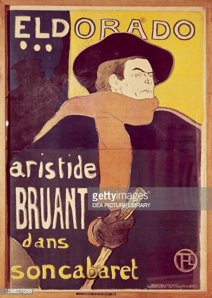 Eldorado Aristide Bruant dans son cabaret poster illustrated by Henri de ToulouseLautrec lithograph by brush and spray 136x94 cm France 19th century...