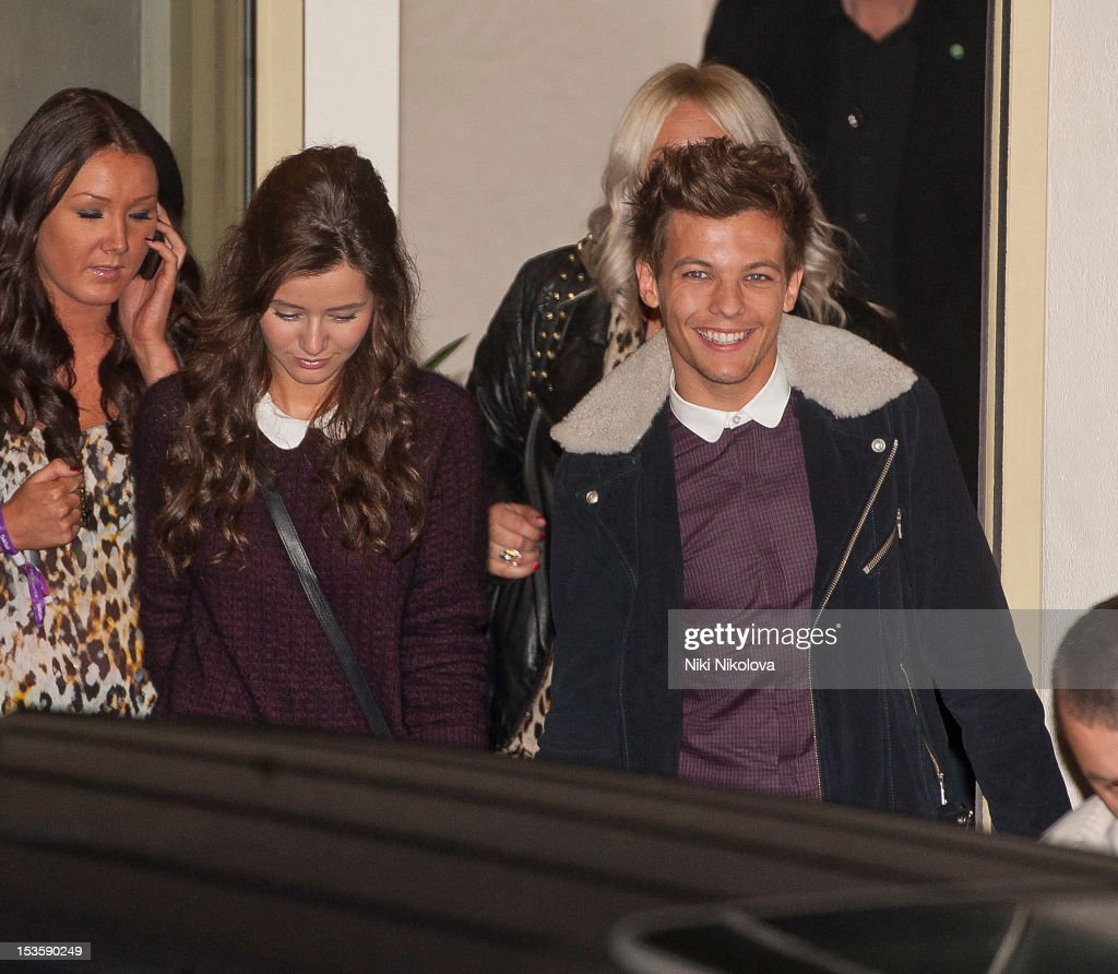 Eleanor Calder and <a gi-track='captionPersonalityLinkClicked' href=/galleries/search?phrase=Louis+Tomlinson&family=editorial&specificpeople=7235196 ng-click='$event.stopPropagation()'>Louis Tomlinson</a> sighting on October 6, 2012 in London, England.