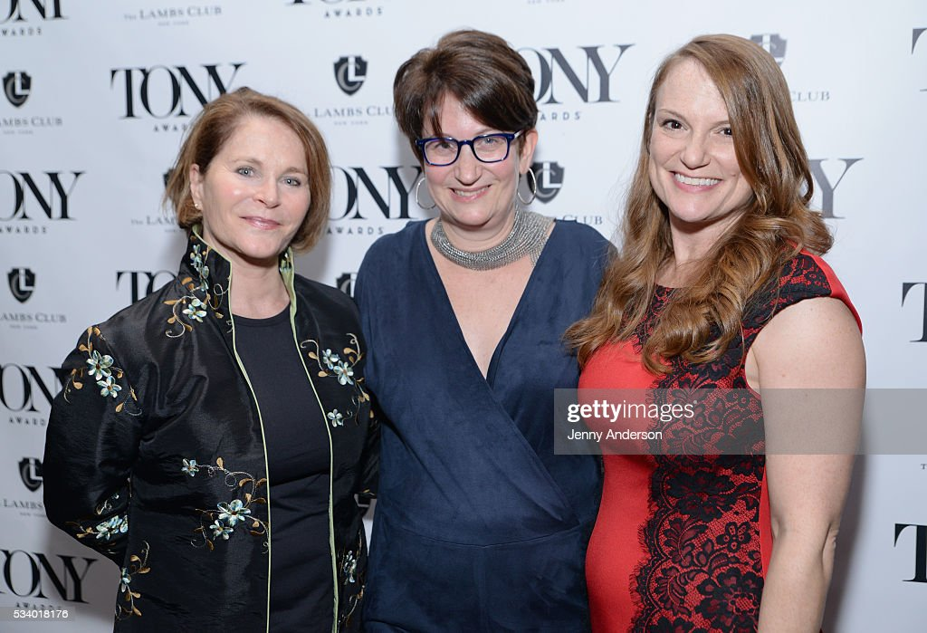Eleanor Denegre, Carol Lanoux Lee, and Caralyn Spector arrive at A Toast To The 2016 Tony Awards Creative Arts Nominees at The Lambs Club on May 24, 2016 in New York City.