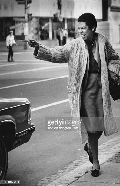FILE Eleanor Holmes Norton arrives at radio station WPFW in Washington DC on November 7 1990