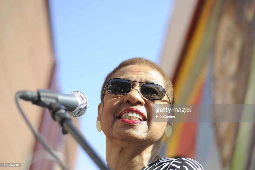 Eleanor Holmes Norton speaks during the 55th Anniversary of Ben's Chili Bowl on August 22, 2013 in Washington, DC.