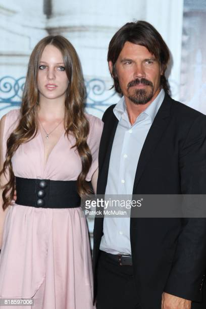 Eleanor Jasmine Lambert and Josh Brolin attend COLUMBIA PICTURES Presents the World Premiere of EAT PRAY LOVE at Ziegfeld Theatre on August 10 2010...