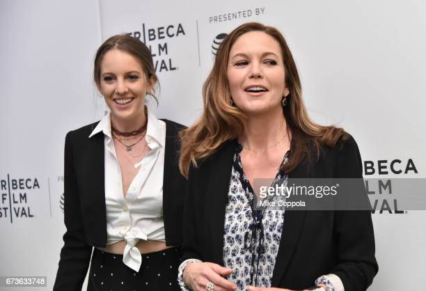 Eleanor Lambert and Diane Lane attend 'From the Ashes' Premiere 2017 Tribeca Film Festival on April 26 2017 in New York City