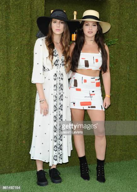 Eleanor Lambert and Lizzy Pergament attends the 8th annual Veuve Clicquot Polo Classic at Will Rogers State Historic Park on October 14 2017 in...