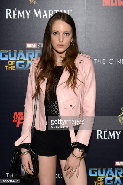 Eleanor Lambert attends a screening of Marvel Studios' 'Guardians of the Galaxy Vol 2' hosted by The Cinema Society at the Whitby Hotel on May 3 2017...