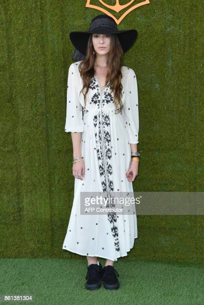 Eleanor Lambert attends the 8th annual Veuve Clicquot Polo Classic at the Will Rogers State Historic Park in Pacific Palisades on October 14 2017 /...