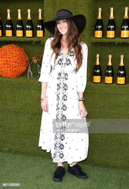 Eleanor Lambert attends the 8th Annual Veuve Clicquot Polo Classic at Will Rogers State Historic Park on October 14 2017 in Pacific Palisades...