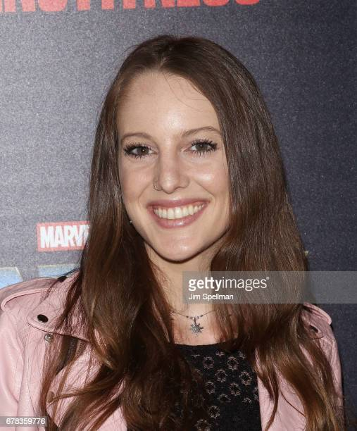 Eleanor Lambert attends the screening of Marvel Studios' 'Guardians Of The Galaxy Vol 2' hosted by The Cinema Society at the Whitby Hotel on May 3...