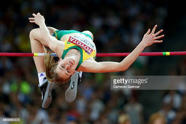 Eleanor Patterson of Australia competes in the Women's High Jump final during day eight of the 15th IAAF World Athletics Championships Beijing 2015...