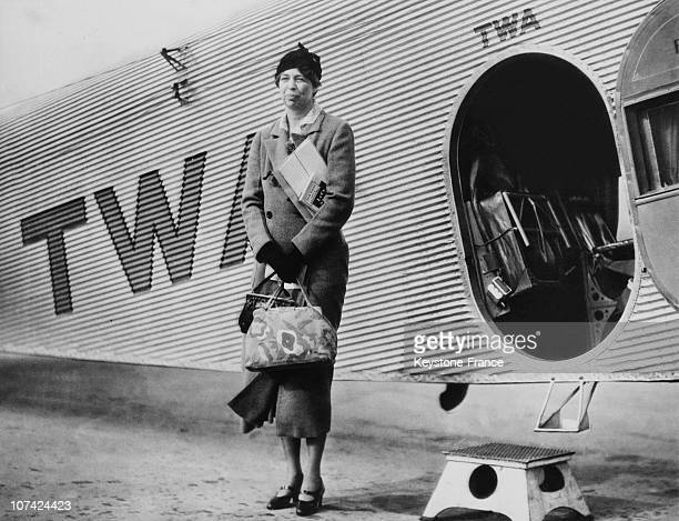 Eleanor Roosevelt During The Franklin Roosevelt Electoral Campaign At Kansas City In Missouri On September 1932