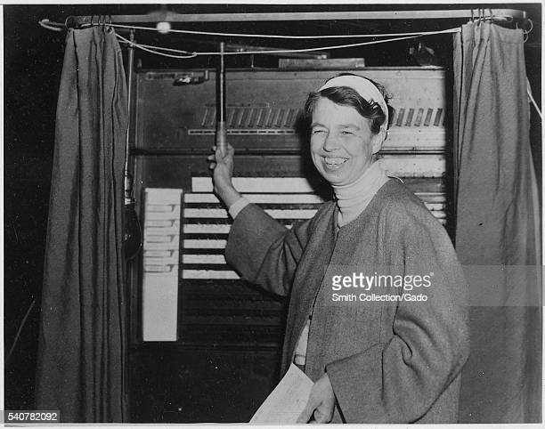 Eleanor Roosevelt votes in Hyde Park New York 1936 Image courtesy National Archives