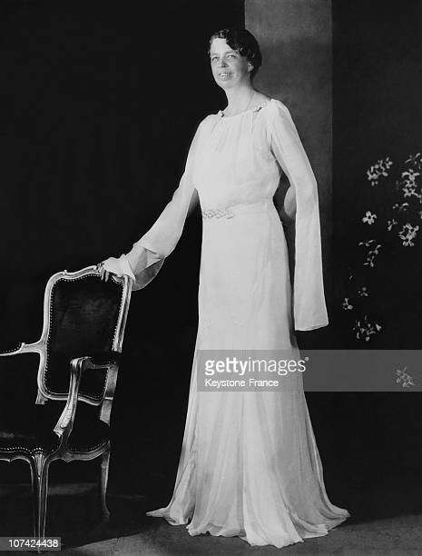 Eleanor Roosevelt Wearing A Sally Milgrim Creation In Washington On May 1933