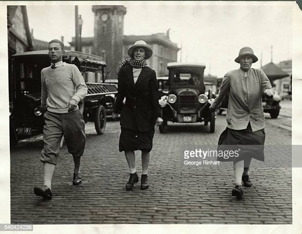 Eleanor Sears noted sportswoman and Elizabeth Ryan tennis star broke Miss Sears' record for walking from Providence to Boston a distance of 47 miles...