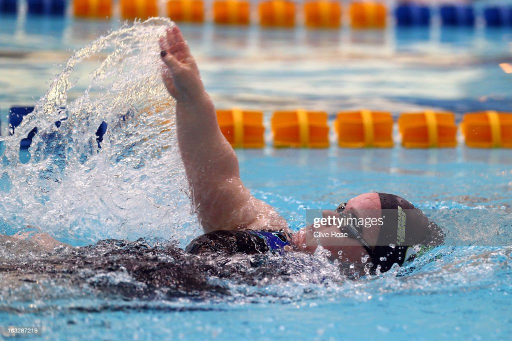 <a gi-track='captionPersonalityLinkClicked' href=/galleries/search?phrase=Eleanor+Simmonds+-+Swimmer&family=editorial&specificpeople=4132578 ng-click='$event.stopPropagation()'>Eleanor Simmonds</a> competes in the MC Women's 100m Backstroke heats on Day One of the 2013 British Gas International Meeting at John Charles Centre for Sport on March 7, 2013 in Leeds, England.