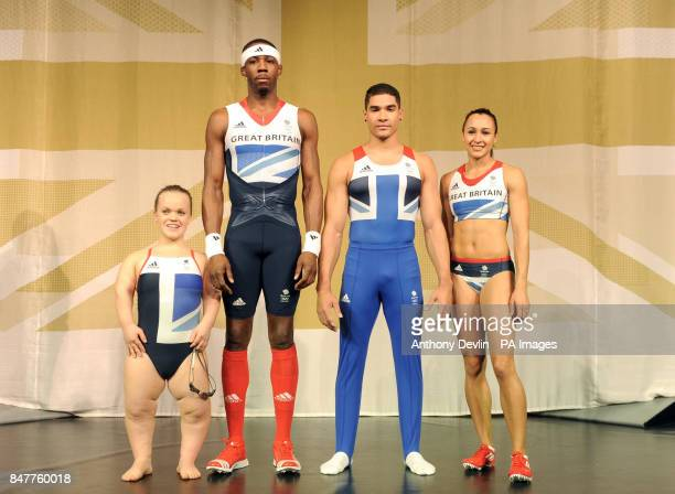 Eleanor Simmonds Phillips Idowu Louis Smith and Jessica Ennis pose as Adidas unveil the British Team Kit designed by Stella McCartney during a...