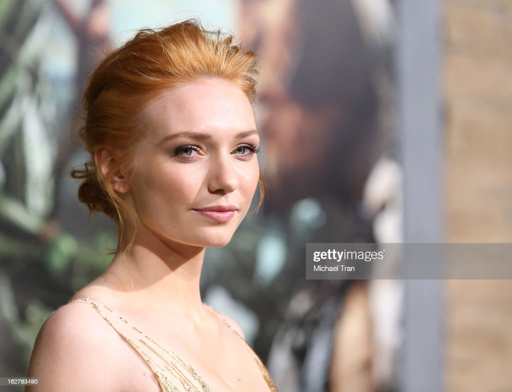 Eleanor Tomlinson arrives at the Los Angeles premiere of 'Jack The Giant Slayer' held at TCL Chinese Theatre on February 26, 2013 in Hollywood, California.