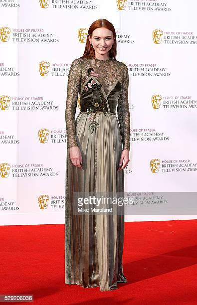 Eleanor Tomlinson arrives for the House Of Fraser British Academy Television Awards 2016 at the Royal Festival Hall on May 8 2016 in London England