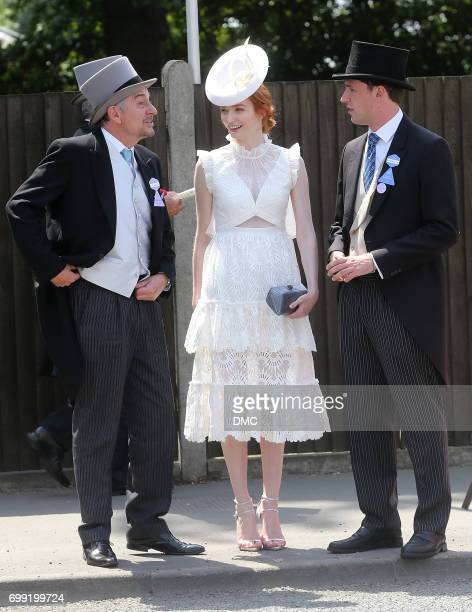 Eleanor Tomlinson attends Royal Ascot 2017 at Ascot Racecourse on June 21 2017 in Ascot England