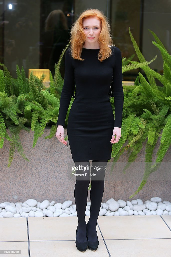 <a gi-track='captionPersonalityLinkClicked' href=/galleries/search?phrase=Eleanor+Tomlinson&family=editorial&specificpeople=2649367 ng-click='$event.stopPropagation()'>Eleanor Tomlinson</a> attends the 'Educazione Siberiana' photocall at Hotel Visconti Palace on February 22, 2013 in Rome, Italy.