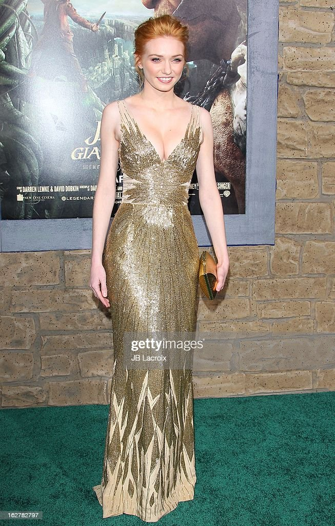 Eleanor Tomlinson attends the 'Jack The Giant Slayer' Los Angeles premiere held at TCL Chinese Theatre on February 26, 2013 in Hollywood, California.
