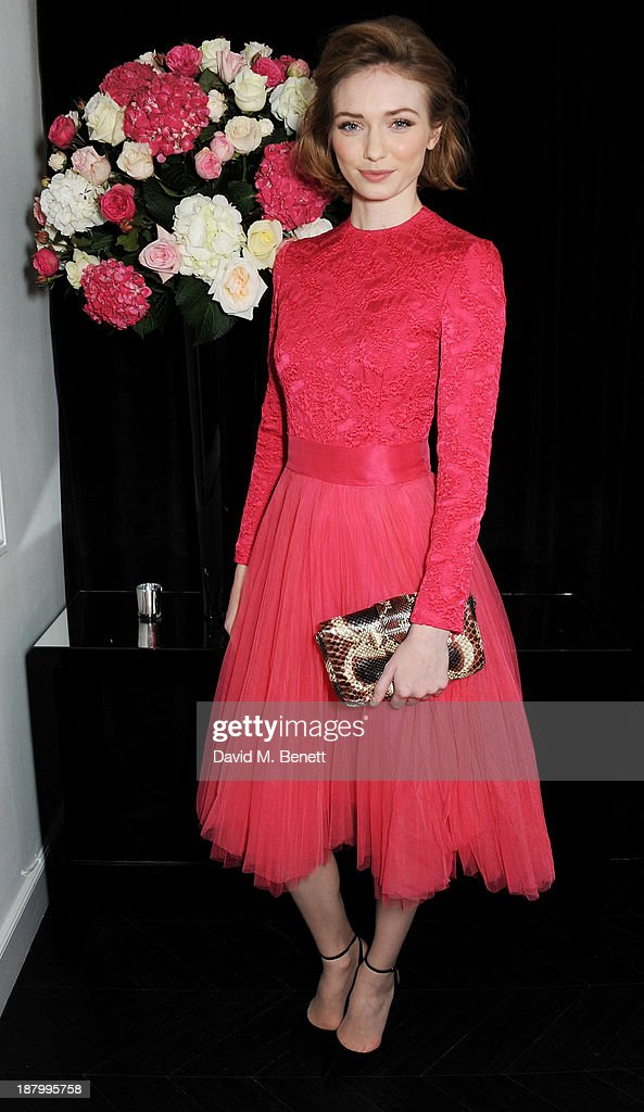 Eleanor Tomlinson attends the opening of the Dior Beauty Boutique in Covent Garden on November 14, 2013 in London, England.