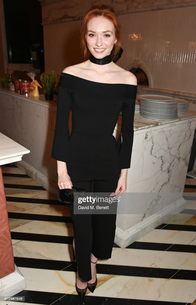 Eleanor Tomlinson attends the Roland Mouret pre-opening dinner at Cecconi's City of London, The Ned, London, on April 25, 2017 in London, England.